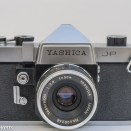 Yashica J-P 35mm slr camera - front view with yashinon 5cm f/2.8 lens