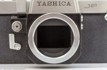 Yashica J-P 35mm slr camera - front view without lens fitted