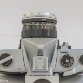 Yashica J-P 35mm slr camera - top view showing control layout