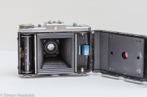 Zeiss Ikon Nettar II 517/16 showing rear door open ready for loading film