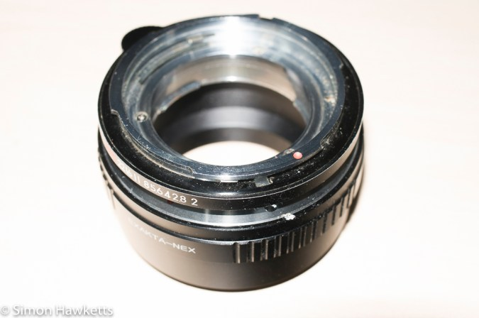 Topcon UV lens mount adapter - Finished adapter