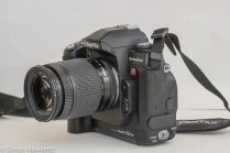 Fuji finepix S2 Pro DSLR - side view showing battery compartment
