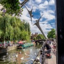 Lincoln city pictures with fuji x-t1 - The river Witham with sculpture