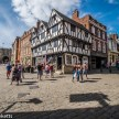 Lincoln city pictures with fuji x-t1 - Tudor house by the castle