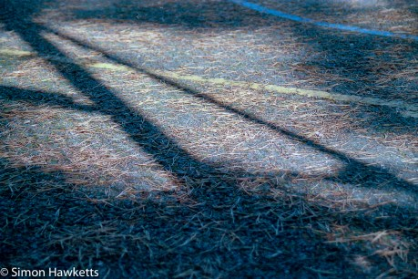 Elveden Forest Centerparcs on film - tennis court shadows