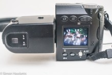 Nikon Coolpix 4500 digital camera - back panel control layout