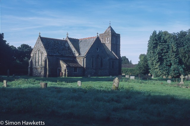 Precisa ct-100 colour  slide film pictures - A church in Lincolnshire