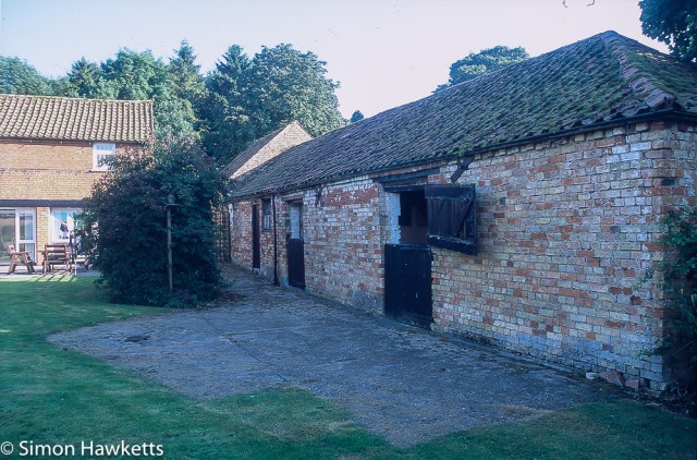 Precisa ct-100 colour  slide film pictures - The barn next to our holiday home