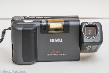 Ricoh RDC-4200 front view with lens open