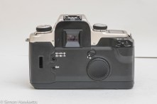 Canon EOS 50e 35mm autofocus camera - back of camera showing control layout
