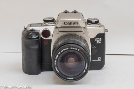Canon EOS 50e 35mm autofocus camera - front of camera