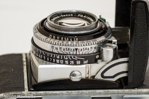 Kodak Retina IIc camera - focus and aperture scales