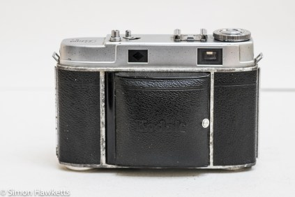 Kodak Retina IIc camera - front of camera with lens cover closed