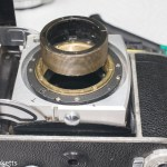 Cleaning the focus mechanism on a Kodak Retina IIc rangefinder