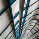 Olympus E500 sample pictures - The roof of the pedestrian bridge at Cambridge Station