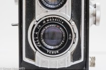 Weltaflex Twin Lens Reflex camera - shutter and aperture settings