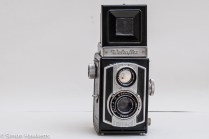 Weltaflex Twin Lens Reflex camera - viewfinder up