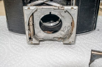 Agfa Karat front standard with shutter removed