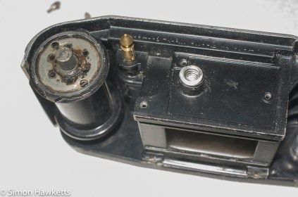 Finetta 88 bottom plate of camera removed