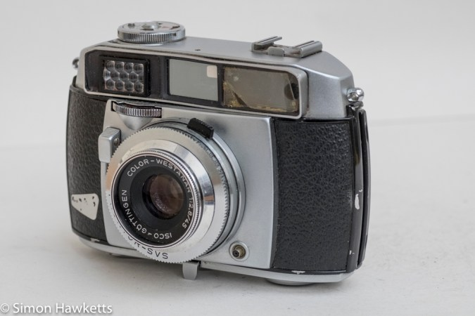 Balda Baldessa 1B 35mm rangefinder camera - side view showing flash sync socket