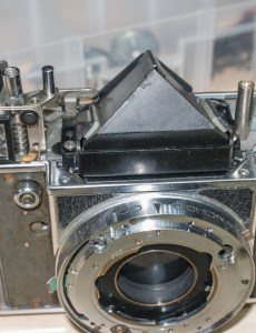 Retina Reflex S re-assembly - refitted prism
