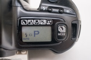 Minolta 300si 35mm autofocus camera - LCD panel display