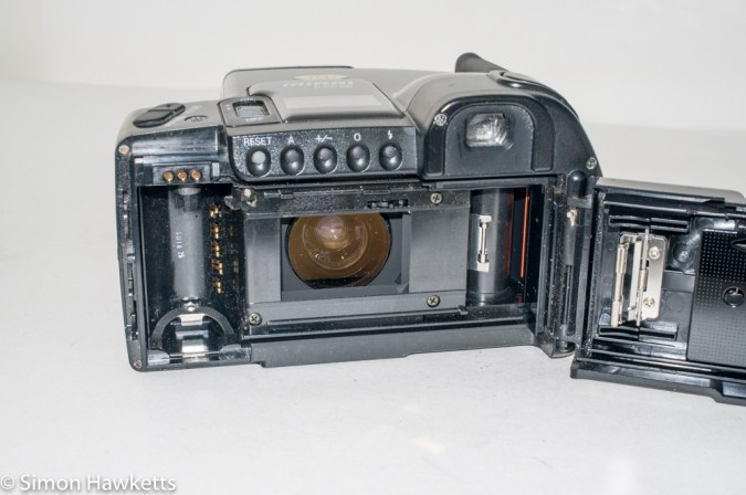 Ricoh Mirai 105 35mm slr camera - Rear view showing film chamber