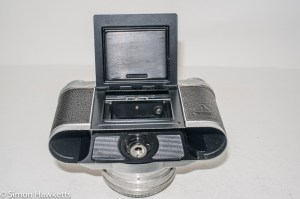 Altissa Altix 35mm viewfinder camera - film loading flap and pressure plate