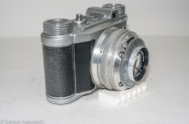 Altissa Altix IV 35mm viewfinder camera - side view showing cocking lever