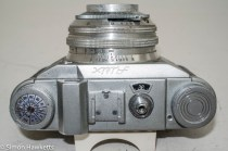 Altissa Altix IV 35mm viewfinder camera - top of camera