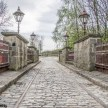 Crich tramway museum - tram tracks over the bridge