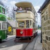 Crich tramway museum - trams crossing