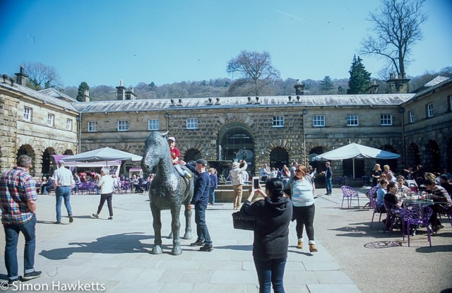 Pentax Z-1P & Agfa CT-100 slide film - Chatsworth house courtyard