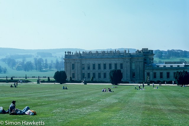 Pentax Z-1P & Agfa CT-100 slide film - Chatsworth house  grass