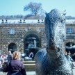 Pentax Z-1P & Agfa CT-100 slide film - Chatsworth house horse in courtyard