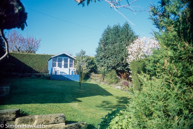 Pentax Z-1P & Agfa CT-100 slide film - Holiday home garden
