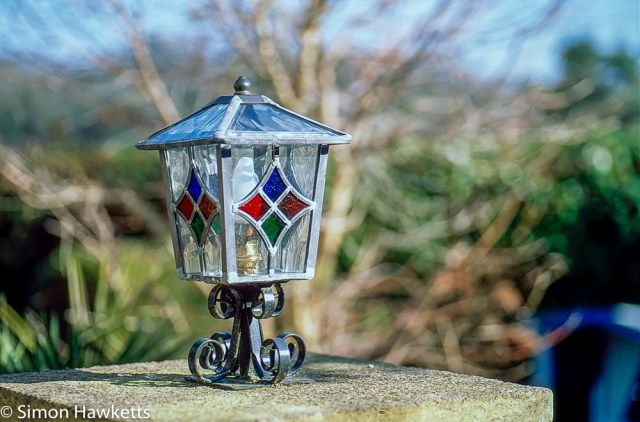 Pentax Z-1P & Agfa CT-100 slide film - Lantern in holiday home garden