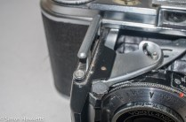 Voigtlander Vito 35mm folding camera - shutter release built into lens cover