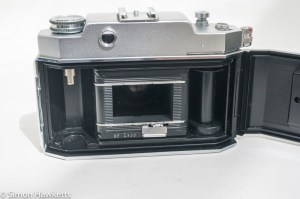 Agfa Karat 35mm rangefinder camera - Film chamber