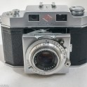 Agfa Karat 35mm rangefinder camera - front view with lens extended