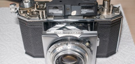 Agfa Karat IV film transport - All cleaned up and complete