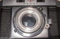 Agfa Karat IV shutter repair - front element unscrewed