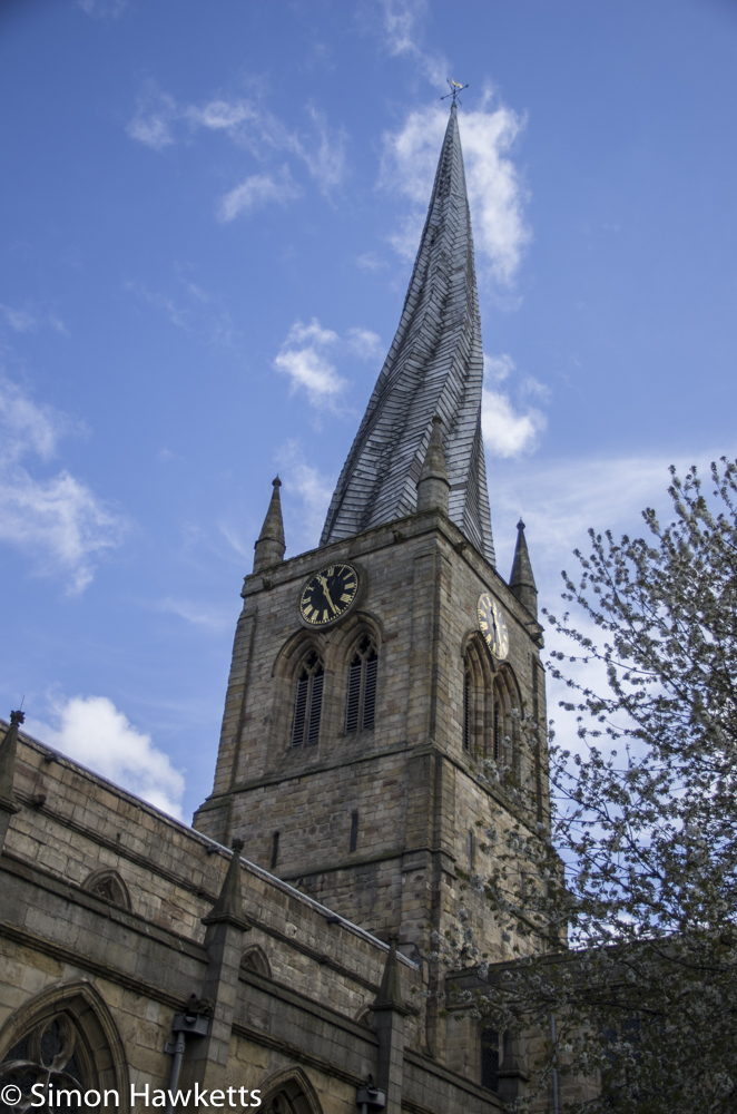 Pentax K5 and Sigma 18 - 125 HSM - Chesterfield church spire