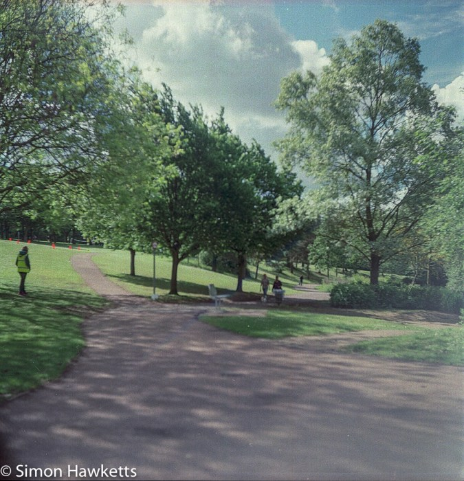 Ciro-Flex TLR sample pictures - Some people taking part in a park run