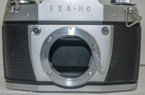 Ihagee Exakta IIa 35mm camera - front view with lens removed