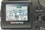 Olympus Camedia C-5050 digital camera - back LCD info display