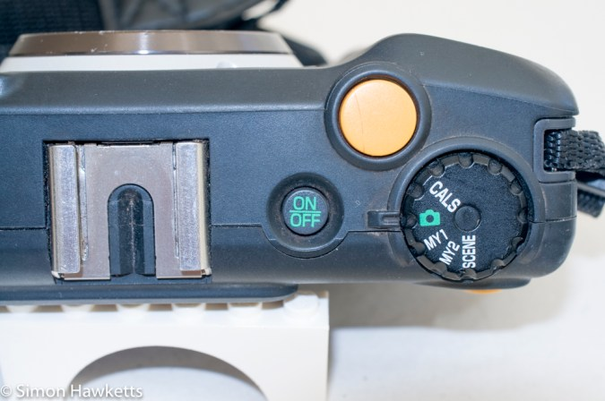 Ricoh G600 ruggedised compact camera - top view showing controls
