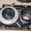 Yashica 635 - shutter and aperture control panel removed