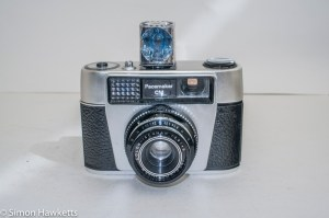 Boots Pacemaker CM 35mm viewfinder camera with flash cube fitted
