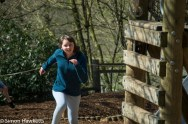 Chatsworth house pictures - Emma in the playground